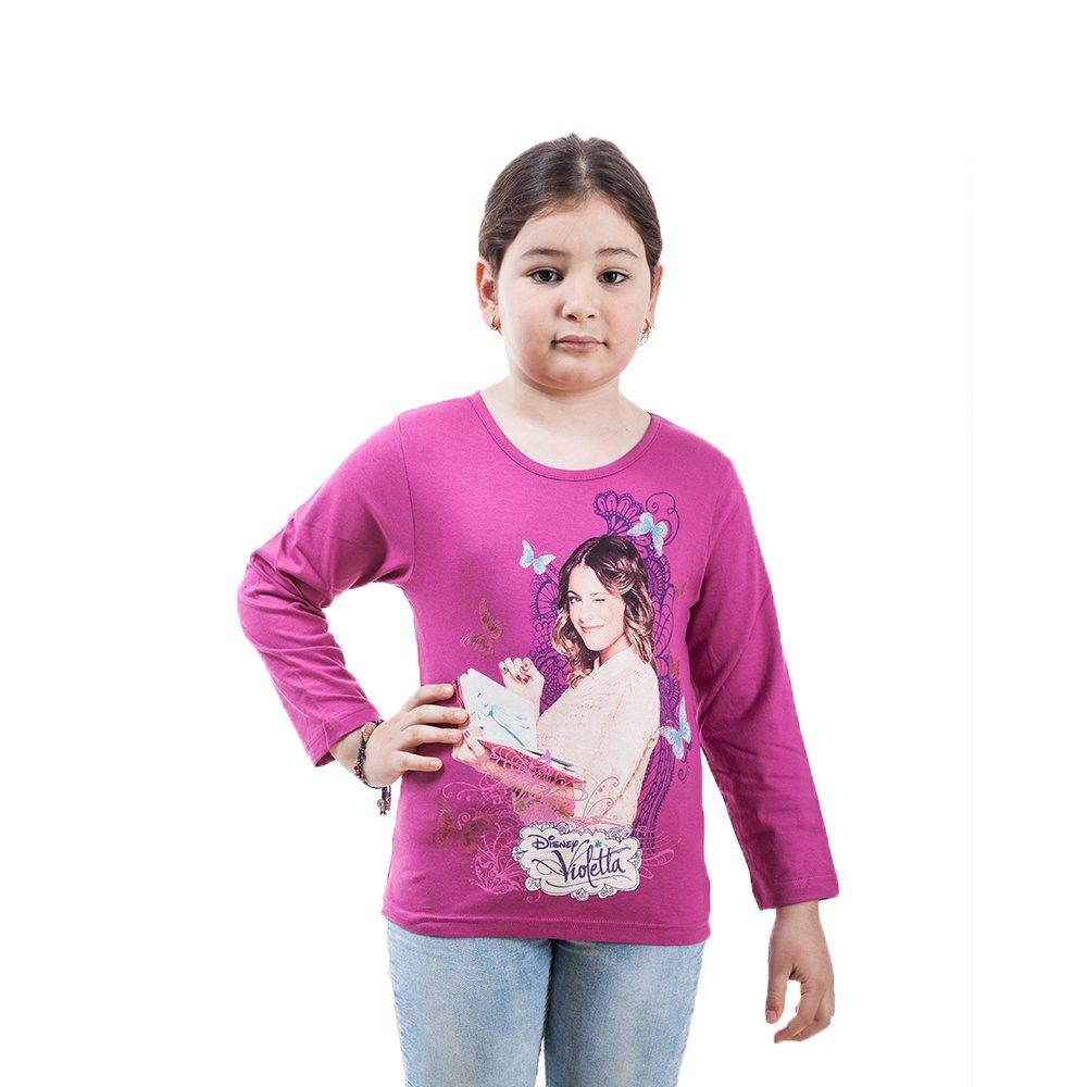 Tricou maneca lunga fete Violetta gri