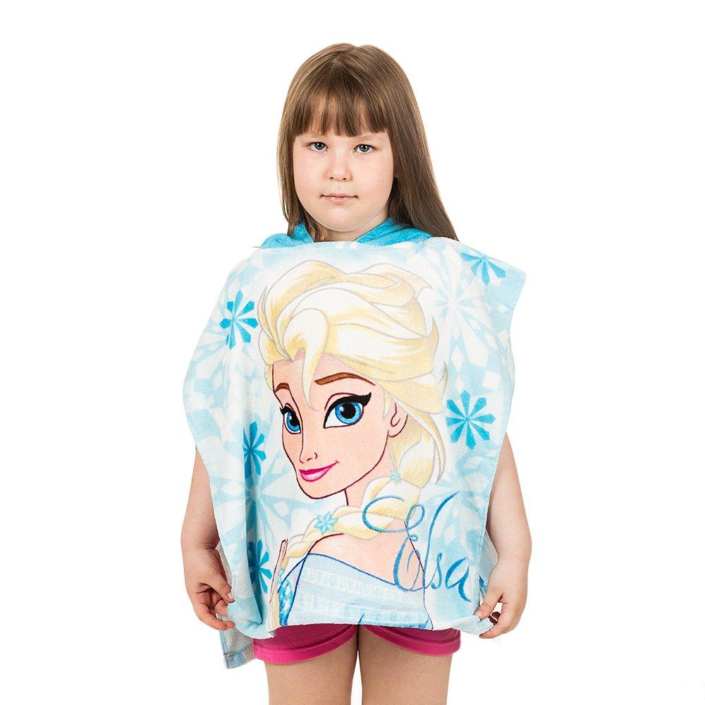 Poncho plaja Frozen Elsa 50X100 bleu
