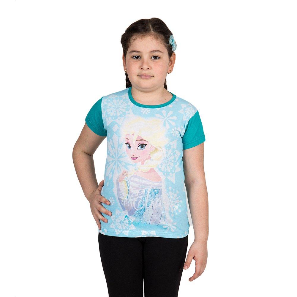 Tricou fete Frozen Elsa verde