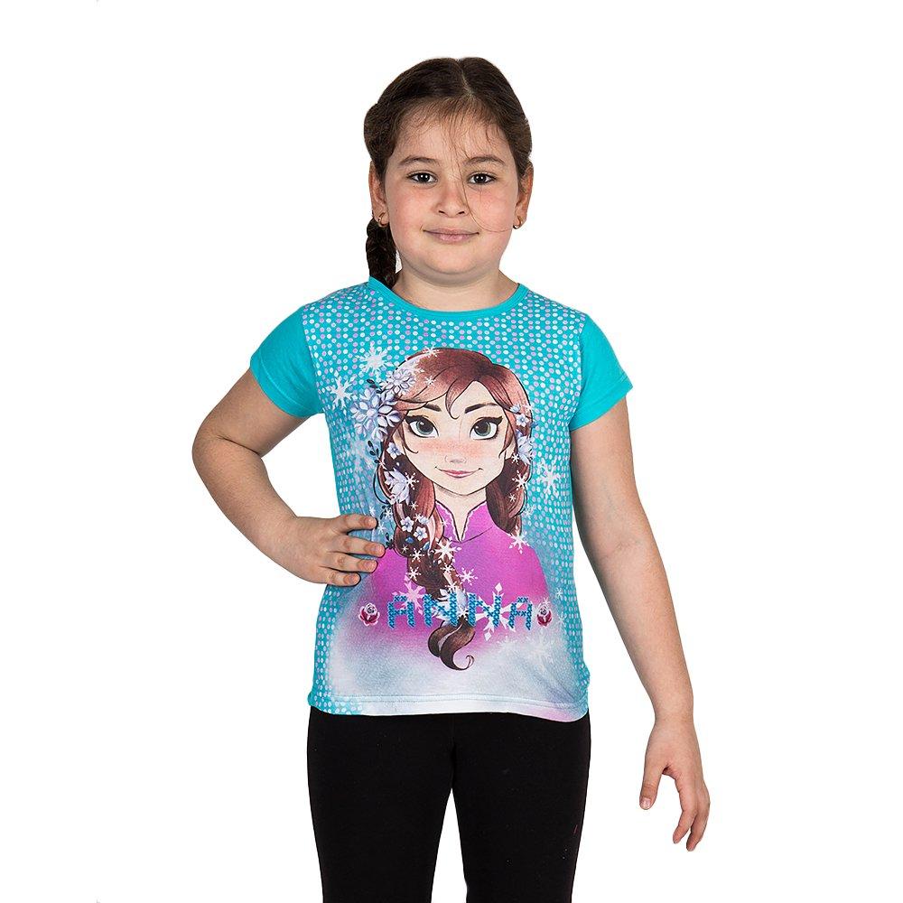 Tricou fete Frozen Anna turcoaz