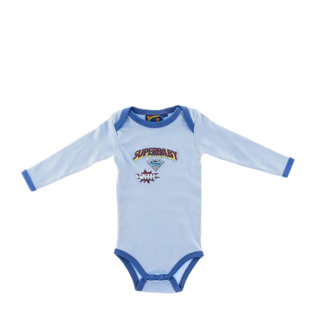 Body bebe Superbebe bleu cu margini albastre