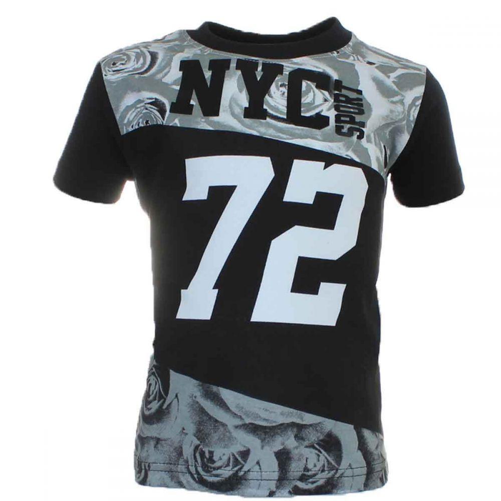 Tricou baieti Tom Jo NYC 72 negru cu gri