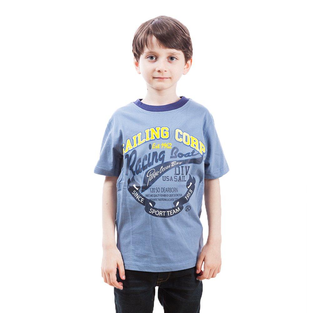 Tricou baieti Tom Jo Nautical albastru