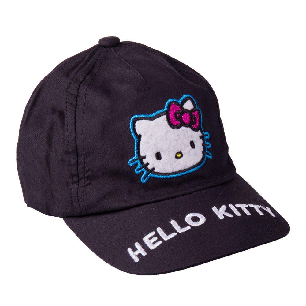 Sapca fete Hello Kitty neagra