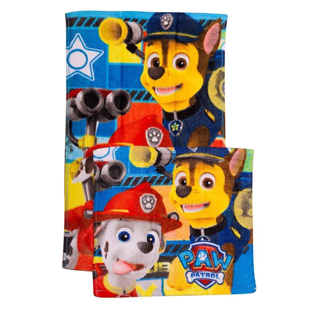 Set doua prosoape Paw Patrol 30x30 si 30x50 albastru