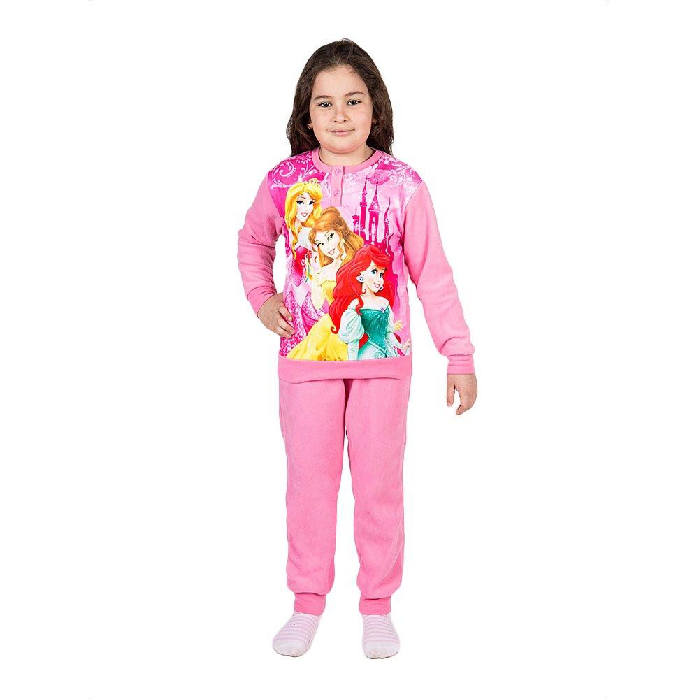 Pijama fleece Printesele Disney roz