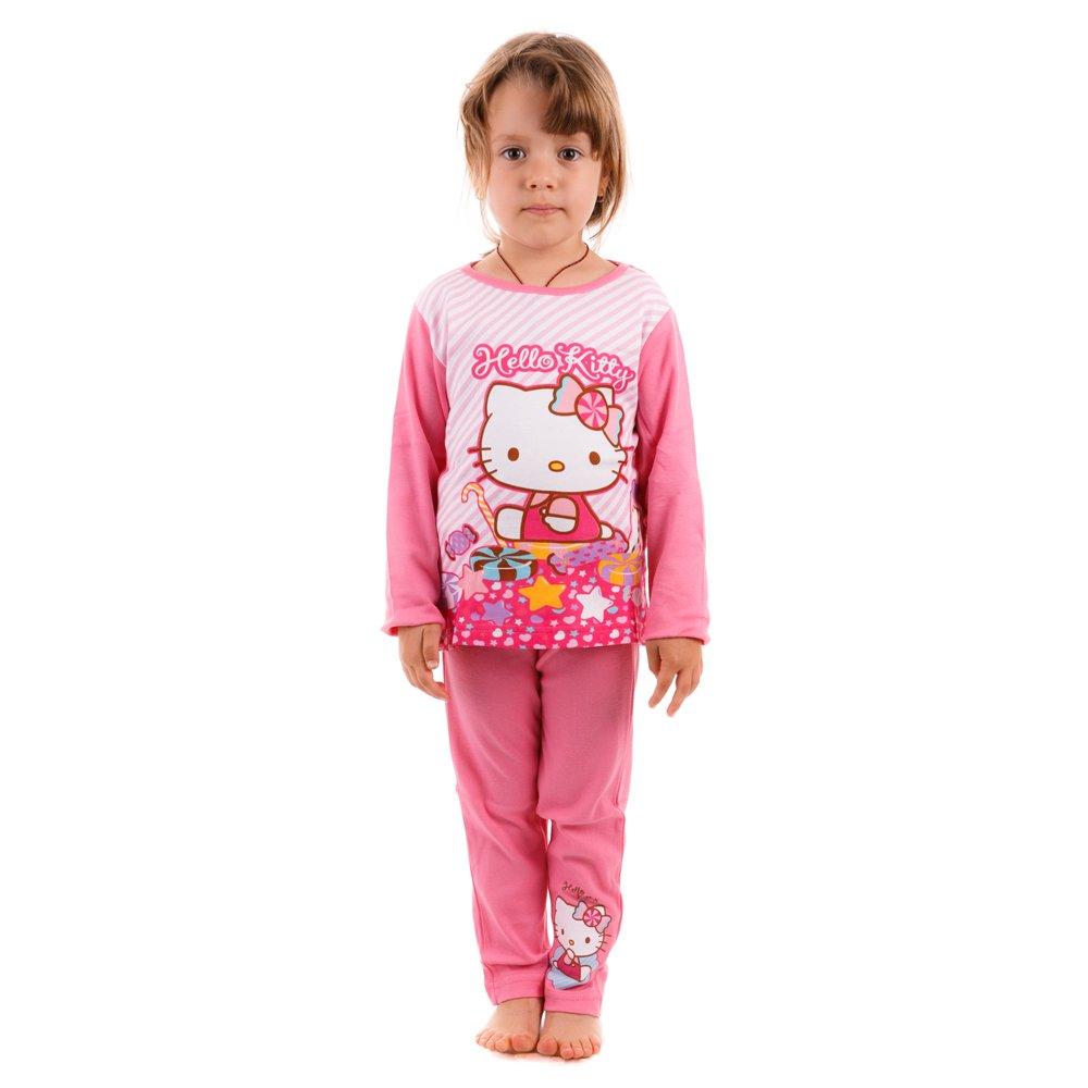 Pijama fete Hello Kitty roz
