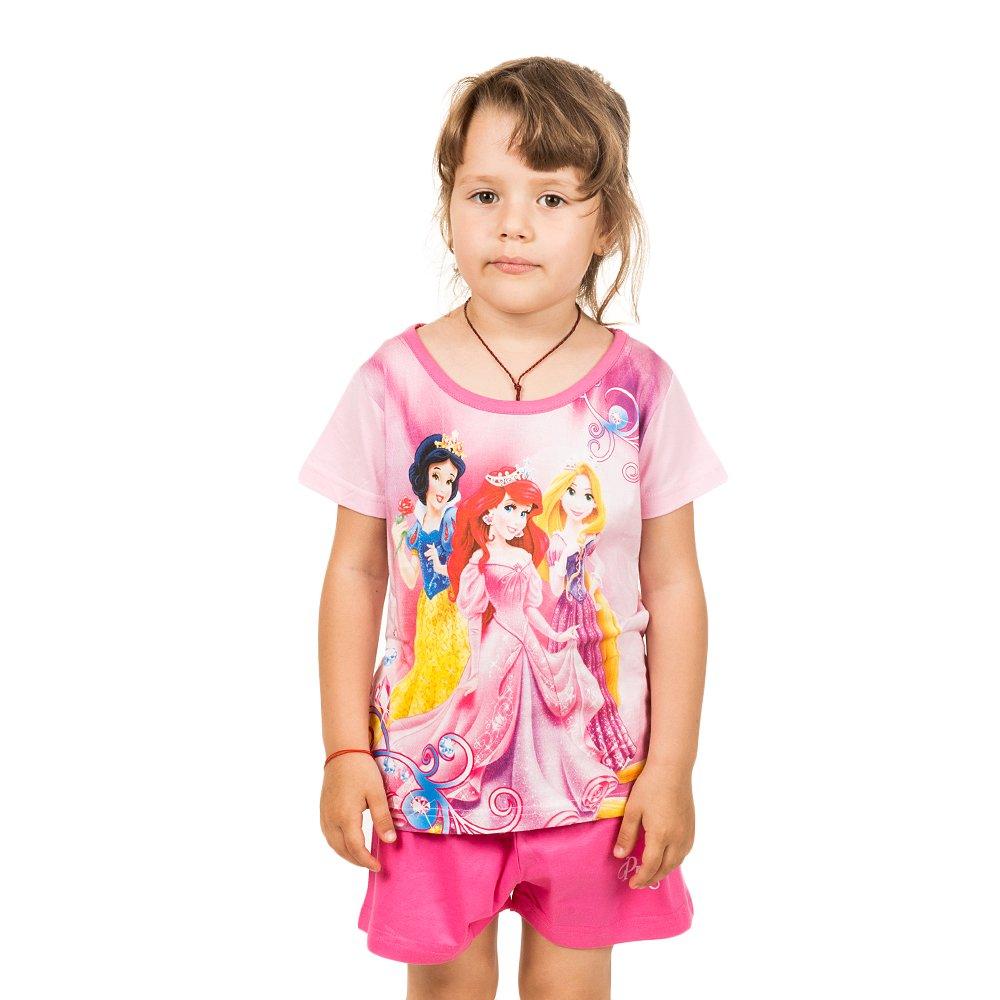 Pijama fete Printesele Disney roz