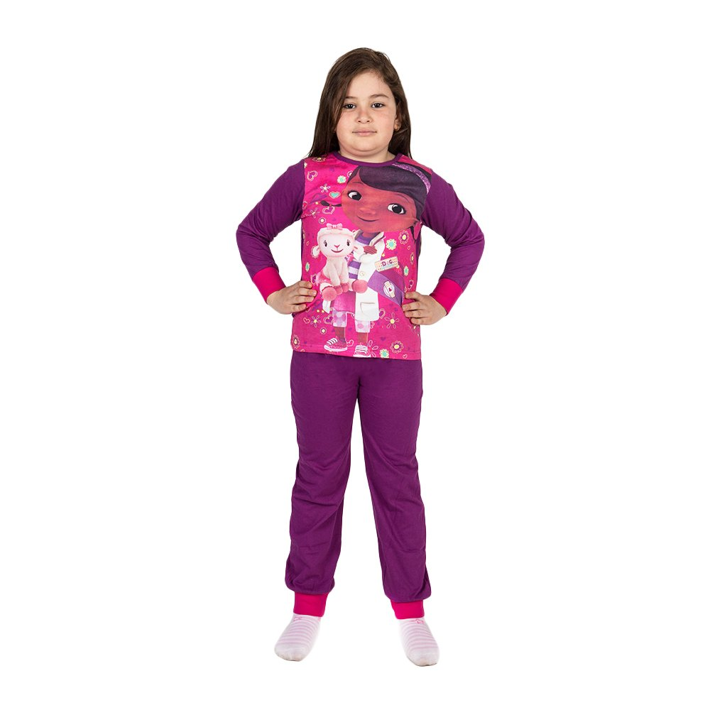 Pijama fete Doctorita Plusica mov
