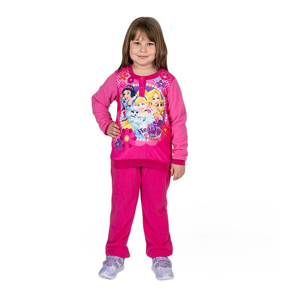 Pijama fete Printesele Disney Hearts and Paws fucsia