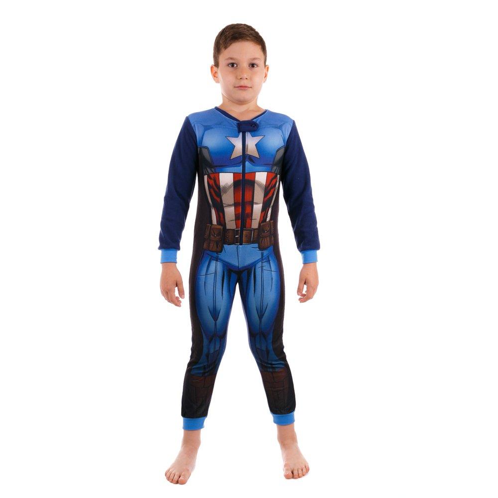 Pijama salopepta baieti Avengers albastra