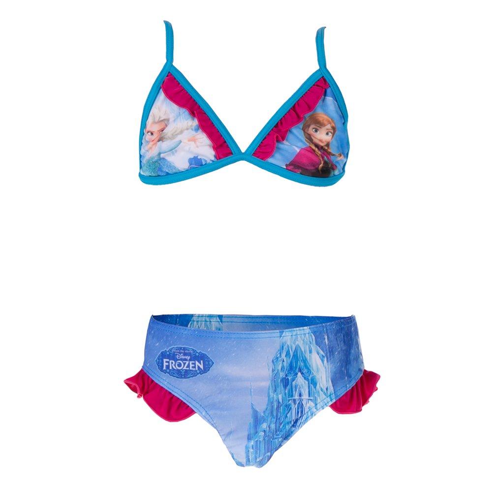 Costum de baie fete Frozen Elsa si Anna albastru
