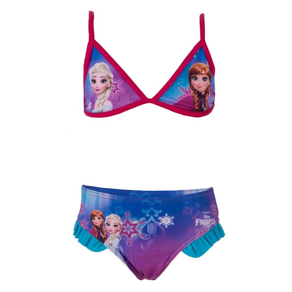 Costum de baie fete Frozen fucsia