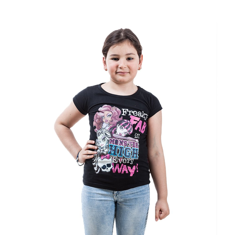 Tricou maneca scurta fete Monster High Freaky negru