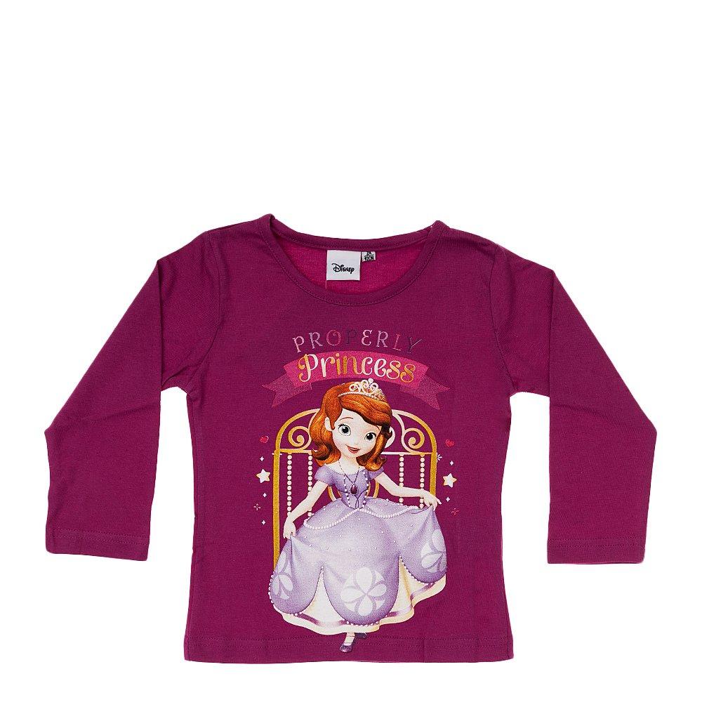 Tricou maneca lunga fete Printesa Sofia Properly Princess mov