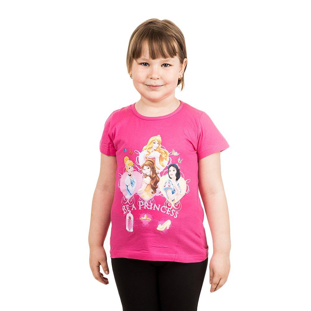 Tricou maneca scurta fete Printesele Disney roz