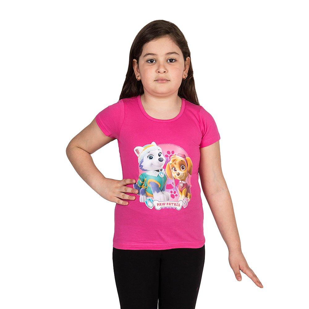 Tricou maneca scurta fete Paw Patrol roz