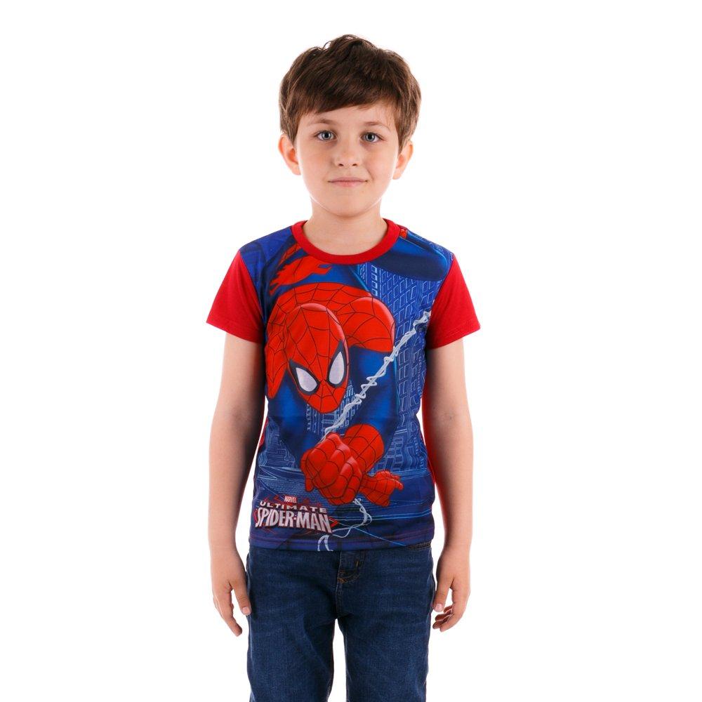 Tricou maneca scurta baieti Spider-Man rosu