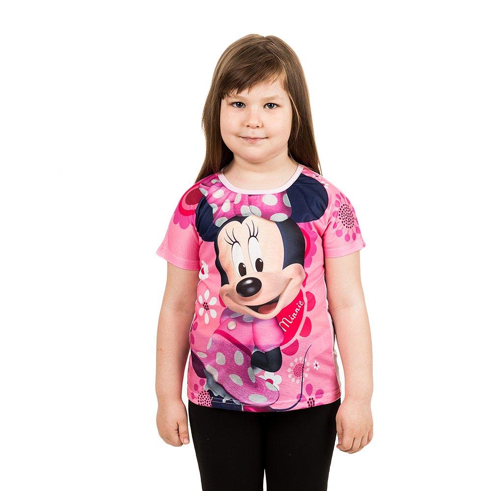 Tricou maneca scurta fete Minnie roz