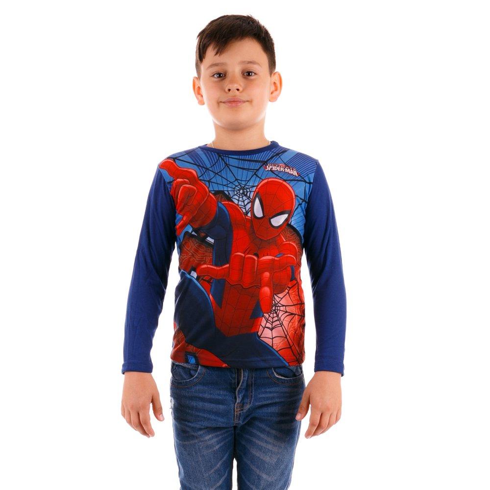 Tricou maneca lunga baieti Ultimate Spider-Man albastru