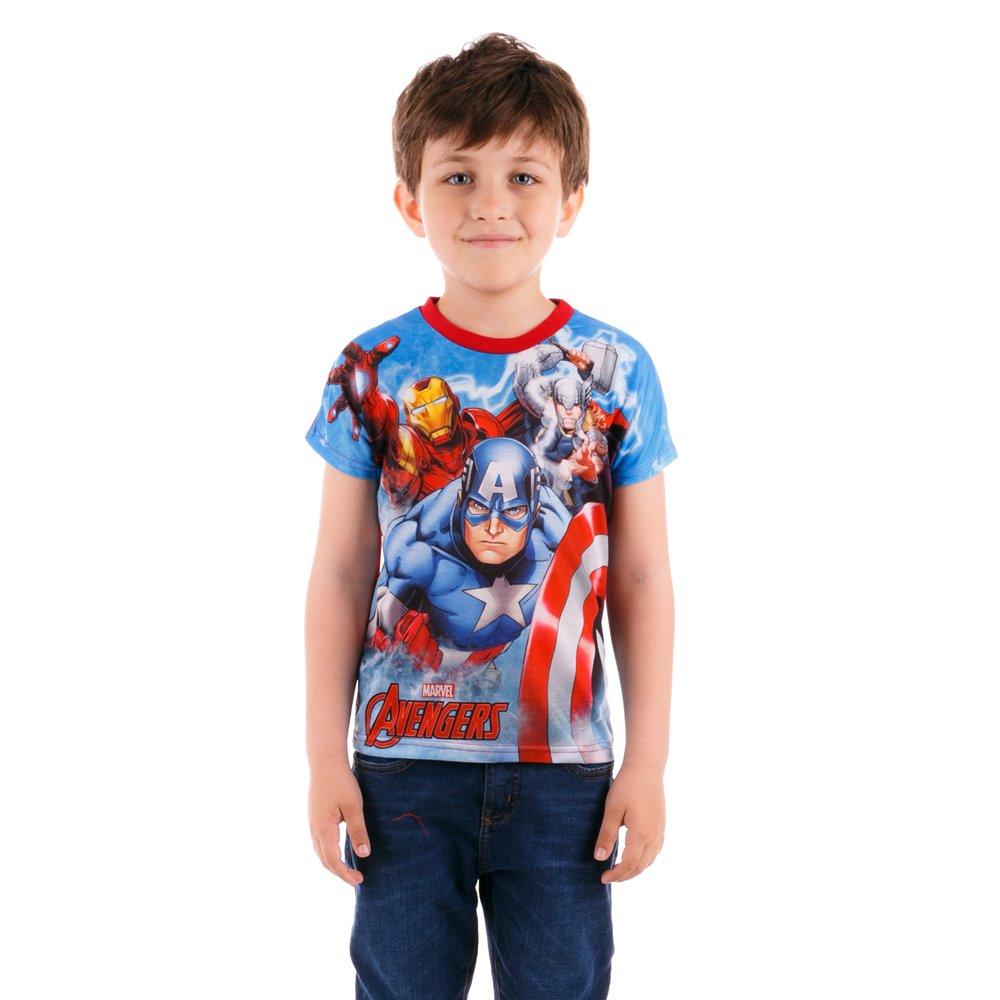 Tricou maneca scurta baieti Avengers albastru