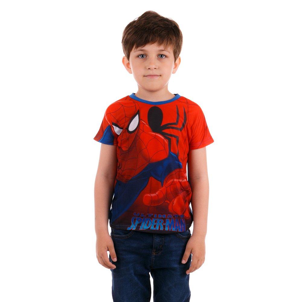 Tricou maneca scurta baieti Ultimate Spider-Man albastru