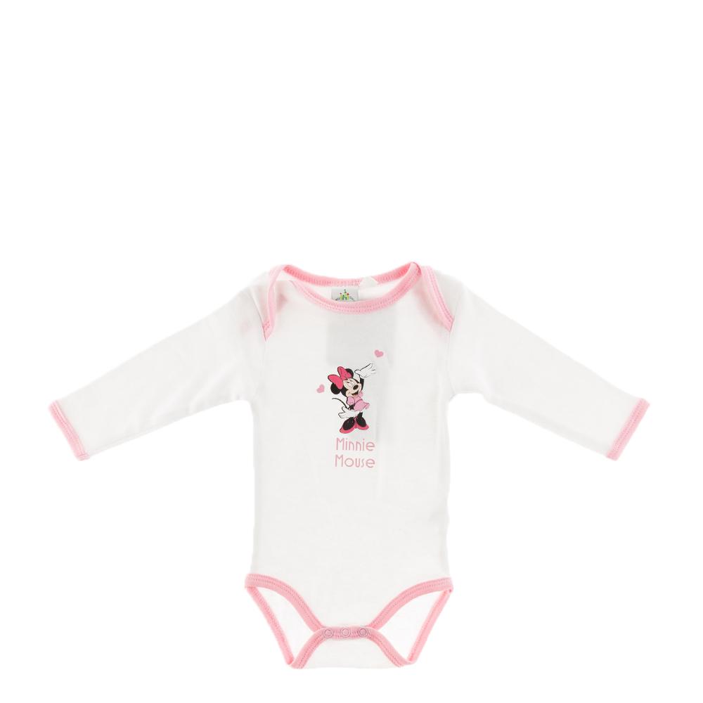 Body bebe Minnie Mouse alb