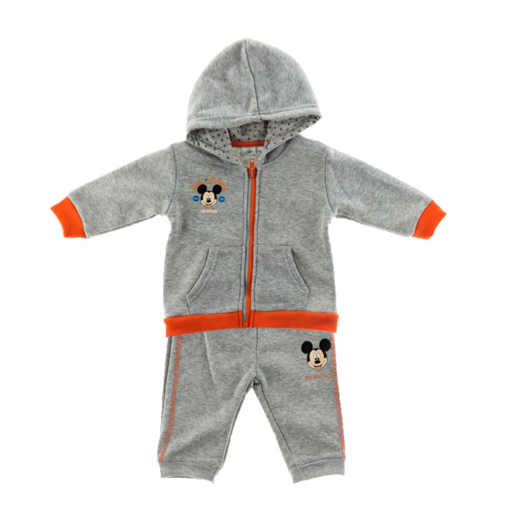 Trening bebe Mickey Mouse All Star gri cu insertii portocalii