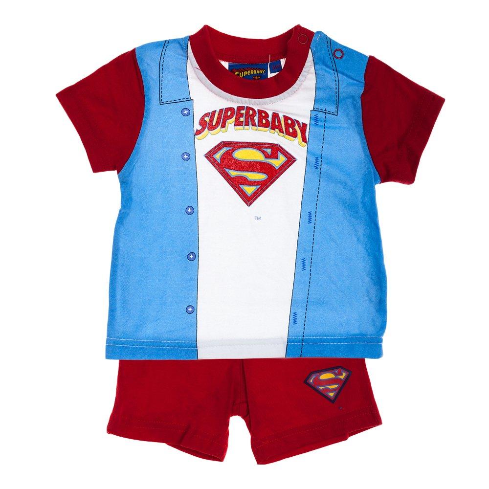 Compleu bebe Superbaby albastru cu rosu