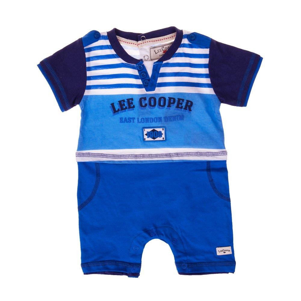 Lee Cooper ? Compleu bebe ELD albastru cu dungi albe