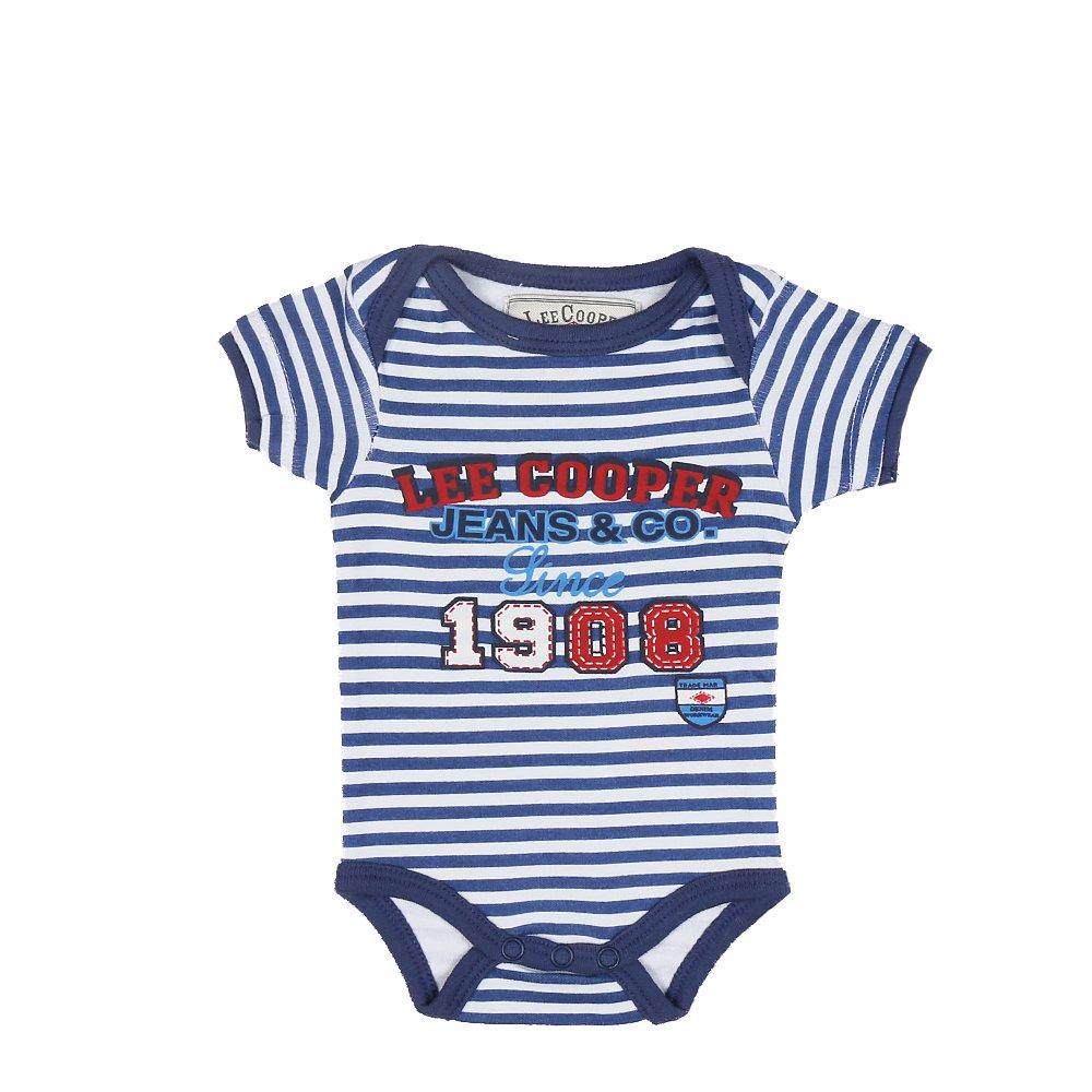Lee Cooper ? Body bebe Since 1908 albastru cu dungi albe