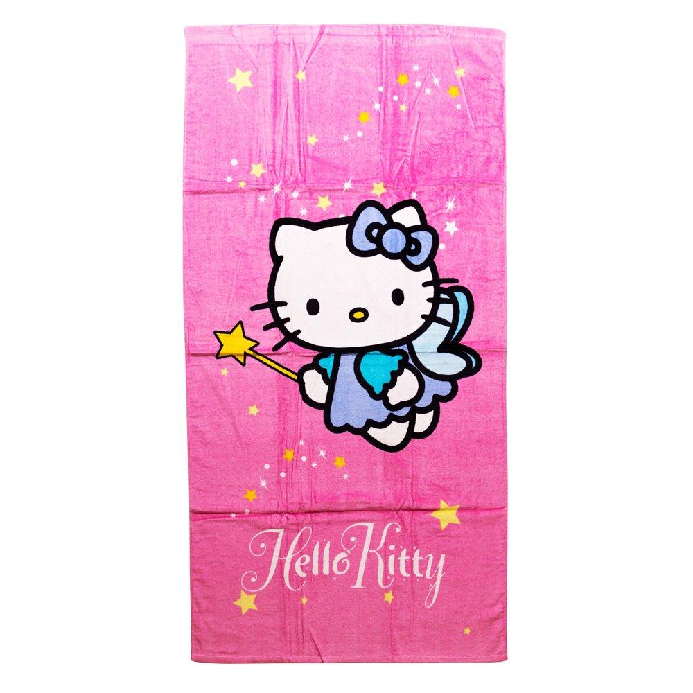 Prosop plaja Hello Kitty 75X150 Fairy roz