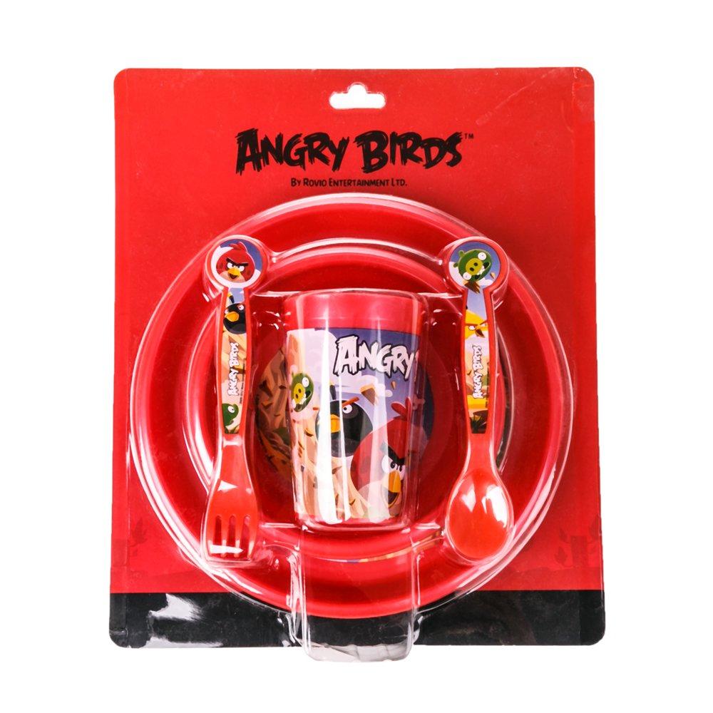 Set mic dejun Angry Birds rosu
