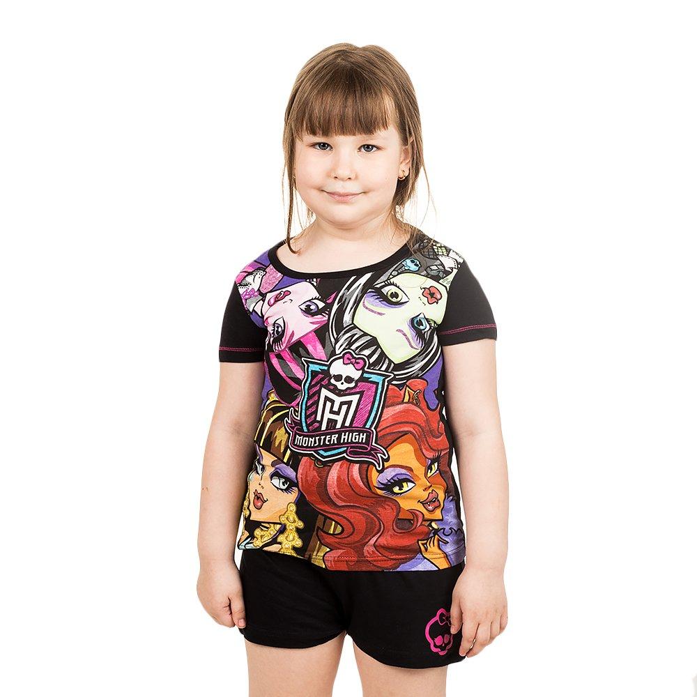 Pijama fete Monster High black pink