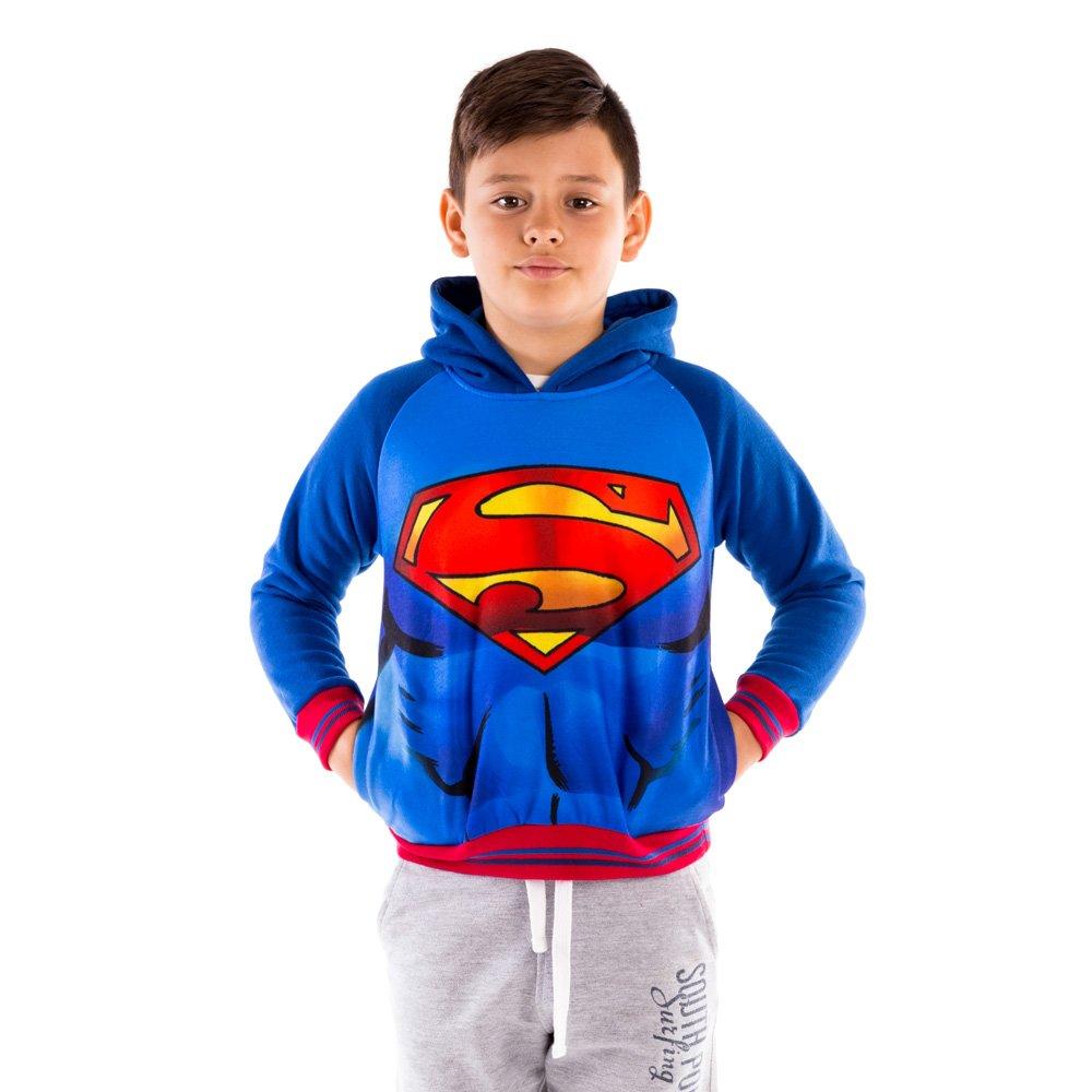 Hanorac baieti Superman albastru