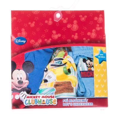 Set 3 perechi chiloti Mickey Mouse albastri, albi si bleu