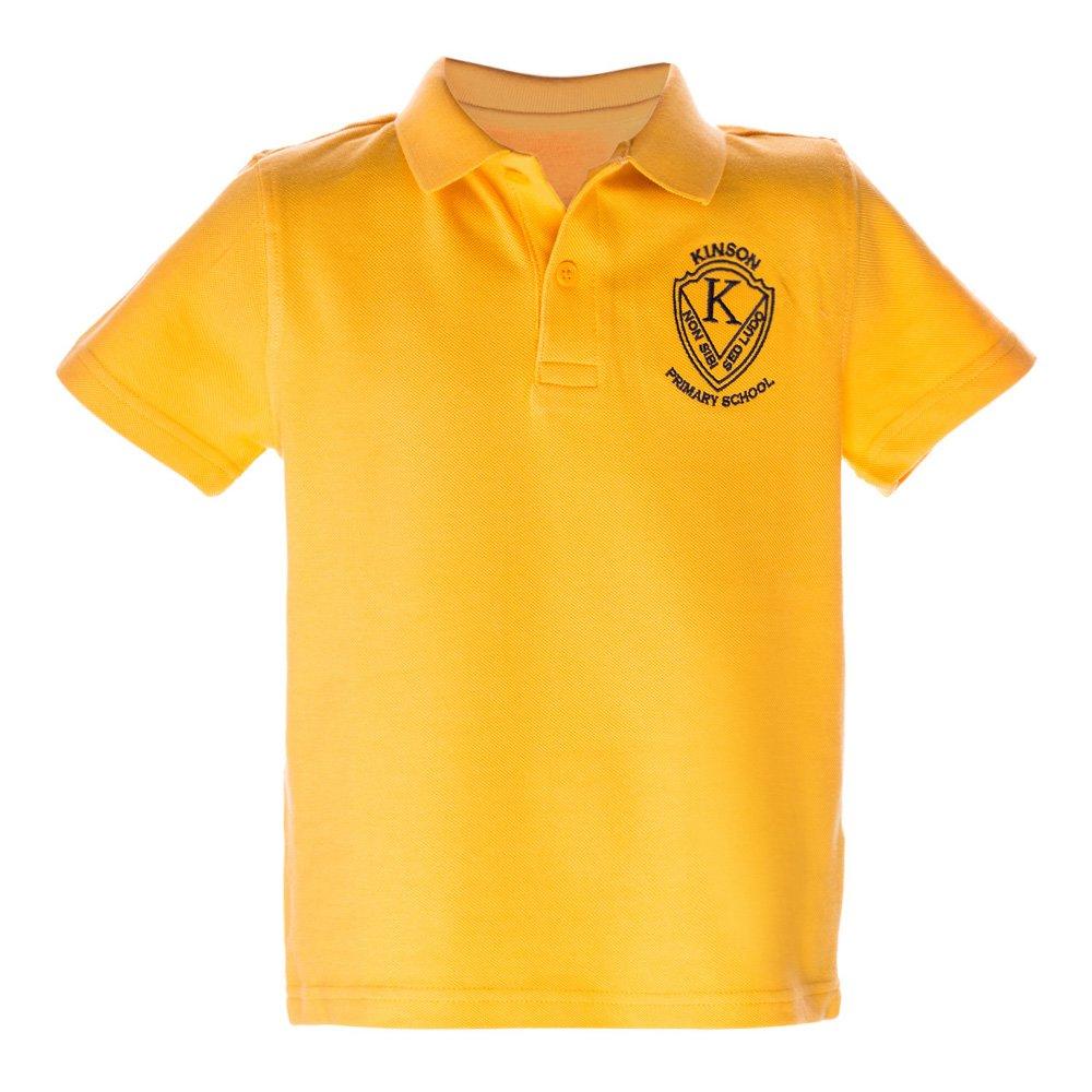 Tricou copii polo cu maneca scurta School galben