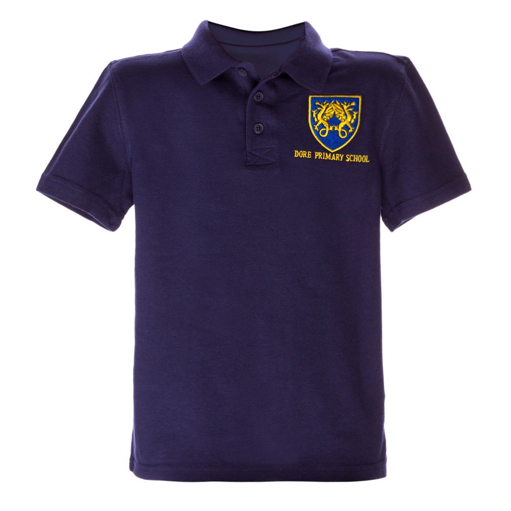 Tricou Copii Polo Cu Maneca Scurta School Navy
