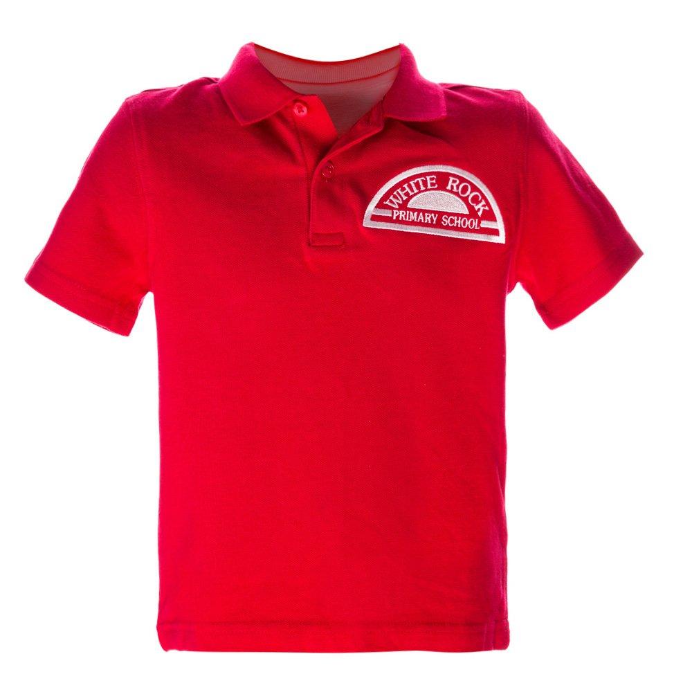 Tricou Copii Polo Cu Maneca Scurta School Rosu