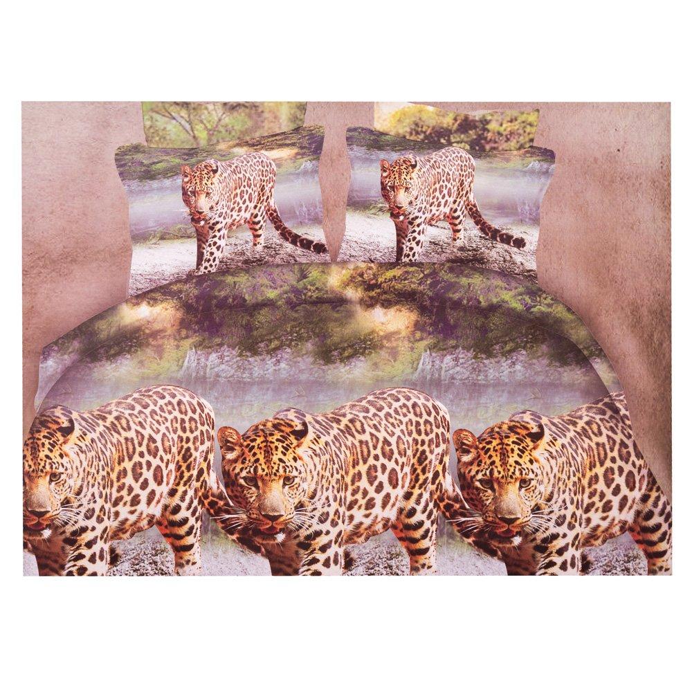 Lenjerie de pat 3D Ralex imprimeu cu tigrii