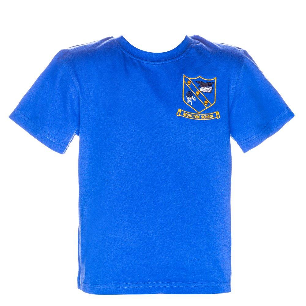 Tricou clasic copii School albastru