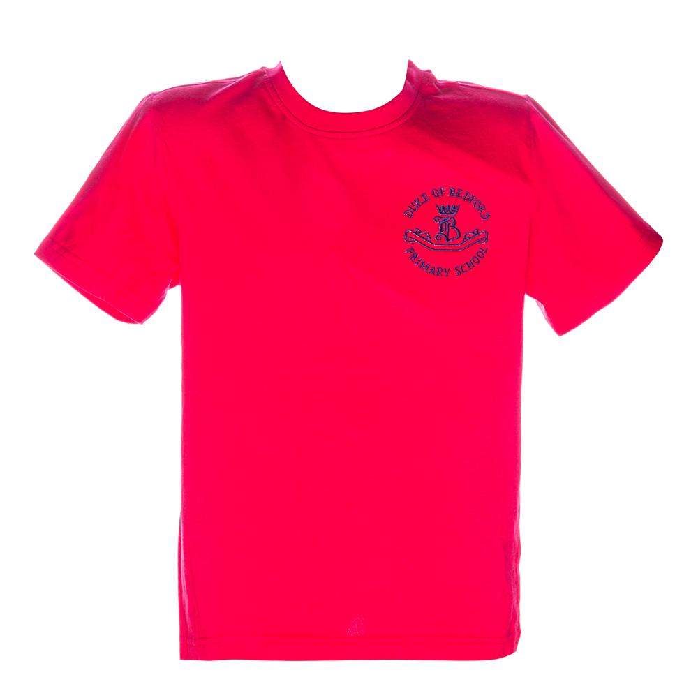 Tricou clasic copii School rosu