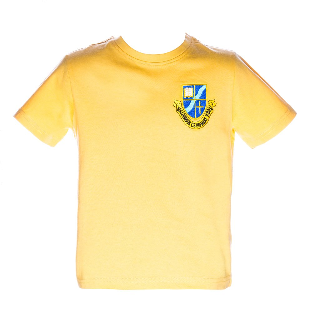 Tricou clasic copii School galben