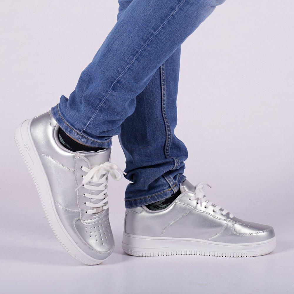 Pantofi sport barbati Hogan argintii