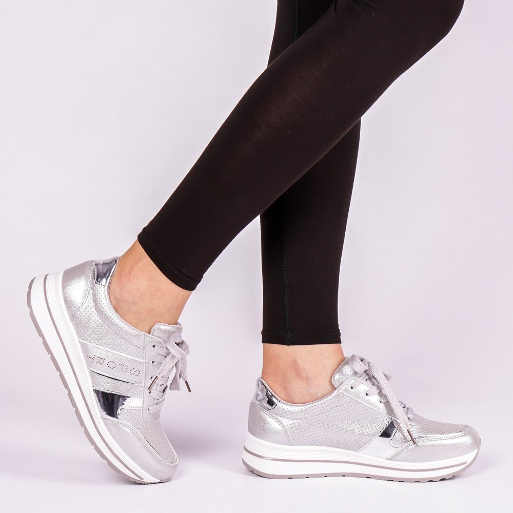 Pantofi sport dama Nina argintii