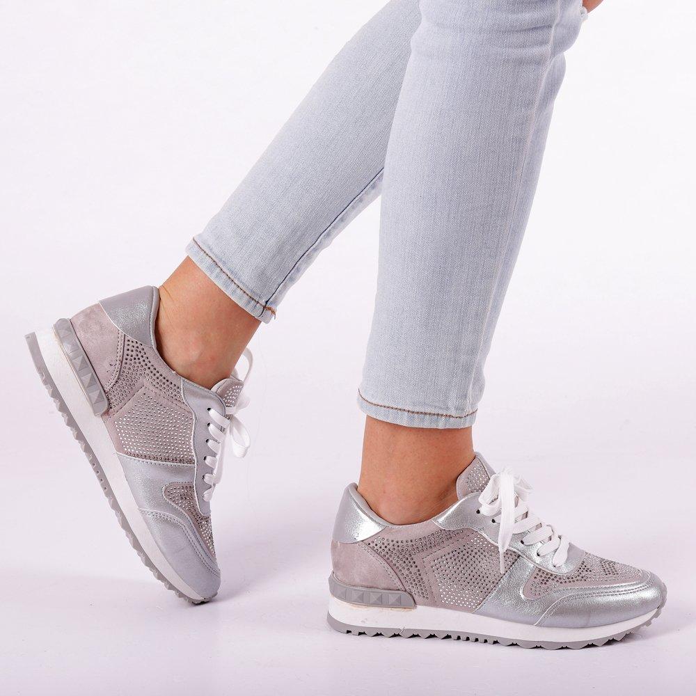 Pantofi sport dama Fleurette argintii