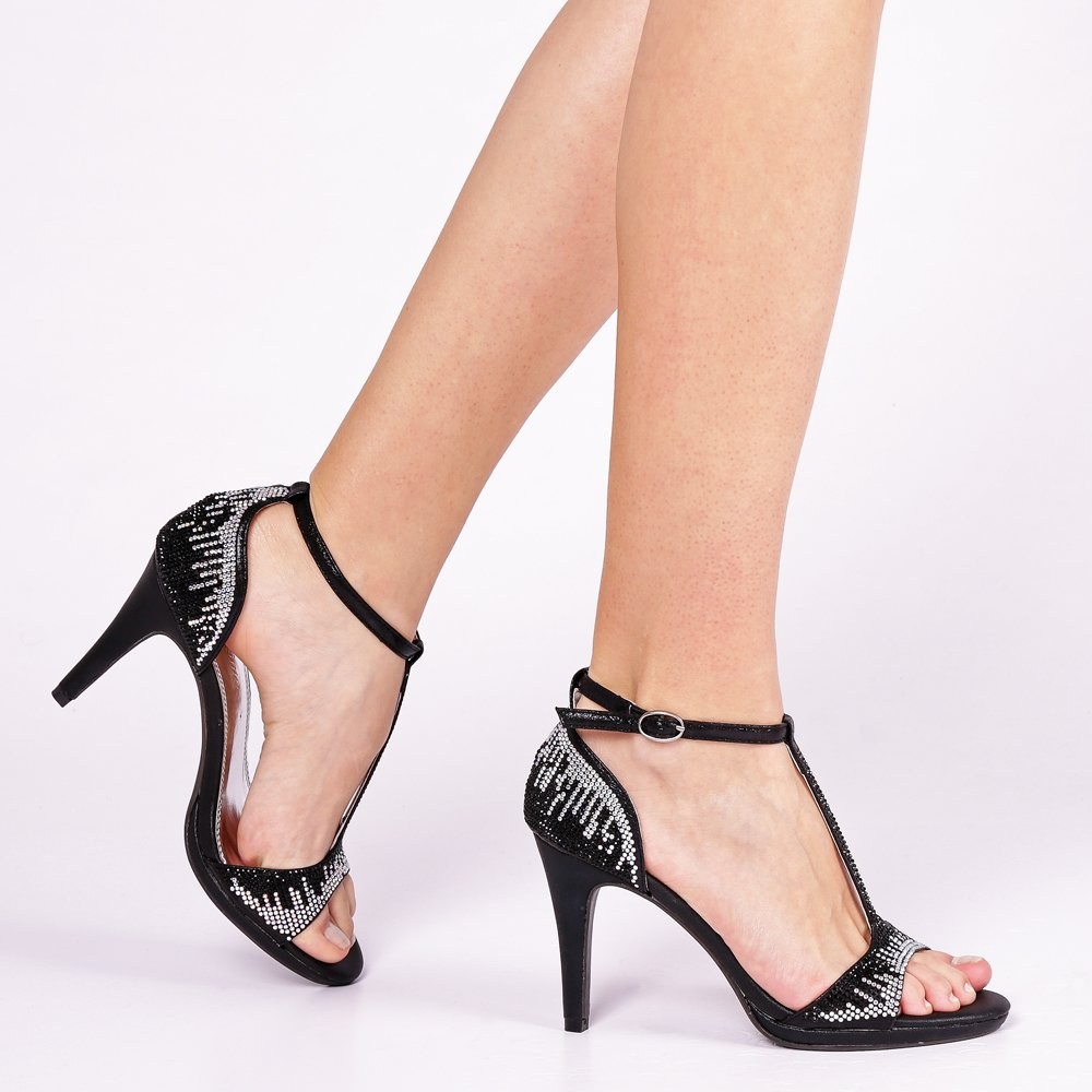Sandale dama Enid negre