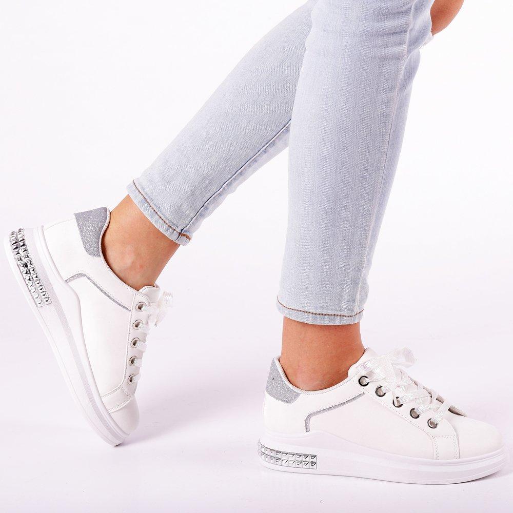 Pantofi sport dama Fredrika albi