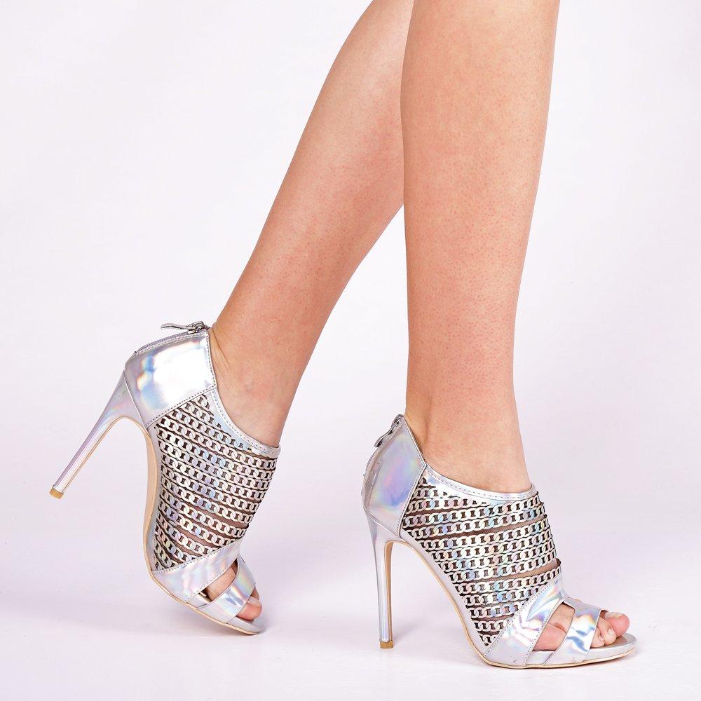 Sandale dama Enna argintii