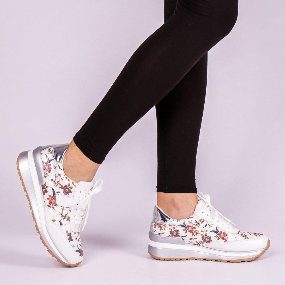 Pantofi sport dama Enia albi